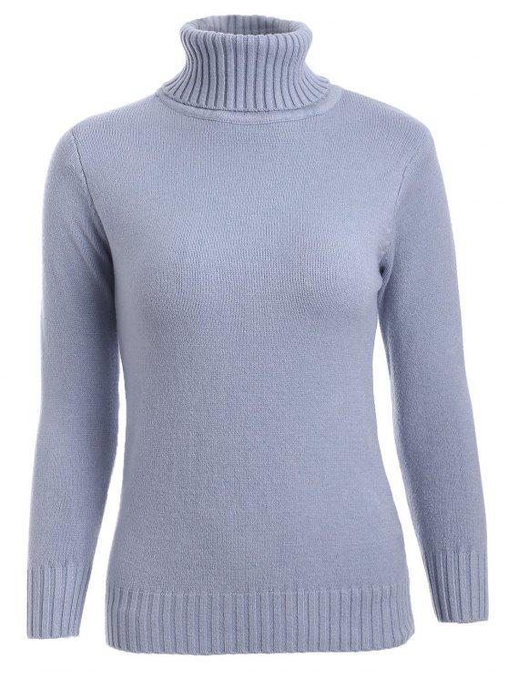 online Turtleneck Sweater - GRAY ONE SIZE