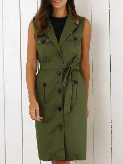 Belted Utility Waistcoat - Army Green M