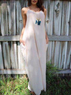 Solid Color Cami Maxi Dress - Apricot 2xl