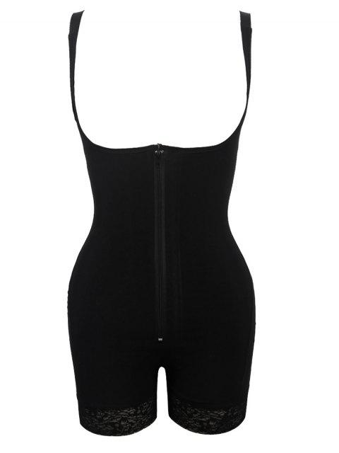 sale Straps Back Backless Zip Up Full Body Corset - BLACK 6XL Mobile