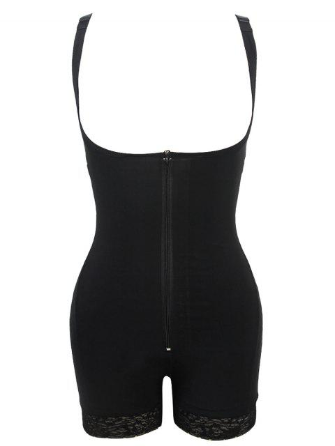 ladies Straps Backless Zip Up Full Body Corset - BLACK 5XL Mobile