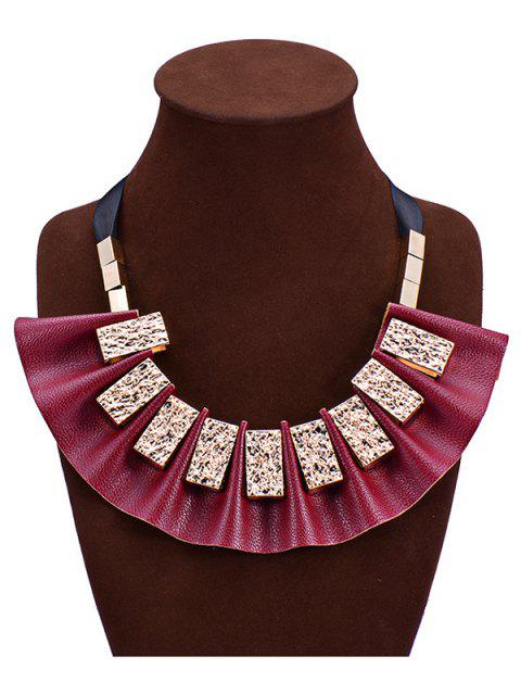 latest Geometric Faux Leather Fake Collar Necklace -   Mobile