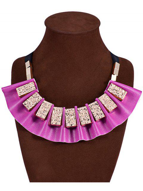 fashion Geometric Faux Leather Fake Collar Necklace -   Mobile