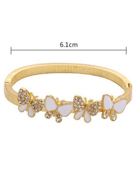 hot Rhinestone Butterfly Bracelet - GOLDEN  Mobile