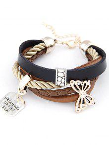 Buy Butterfly Braided Bracelet - COLORMIX