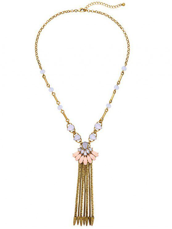 Strass Collier chaîne Fringe - Or