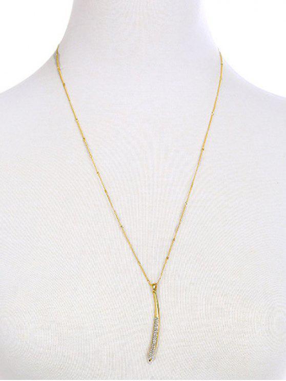 Bar del collar del Rhinestone - Dorado