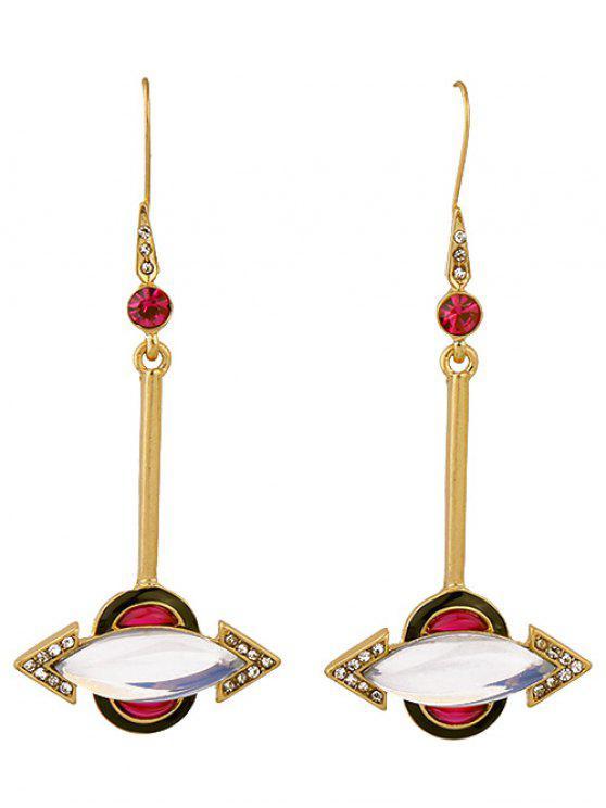 unique Rhinestone Arrow Earrings - GOLDEN