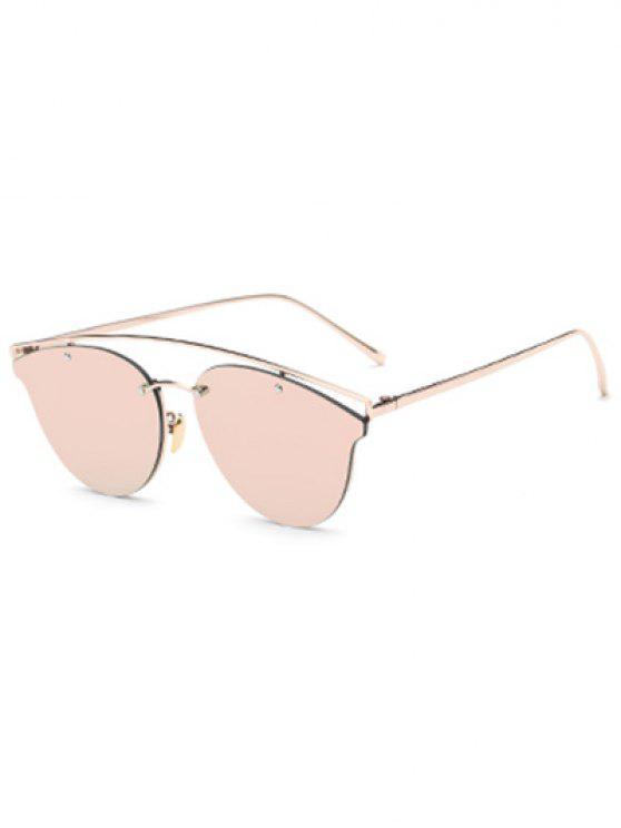 Gafas de sol espejadas travesaño de la mariposa - Rosa
