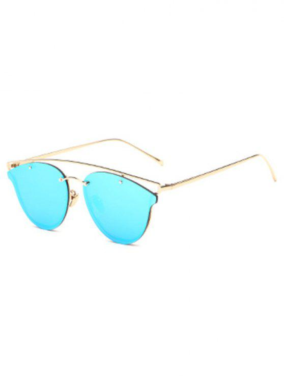 603ae71ef 18% OFF] 2019 Crossbar Mirrored Butterfly Sunglasses In LIGHT BLUE ...