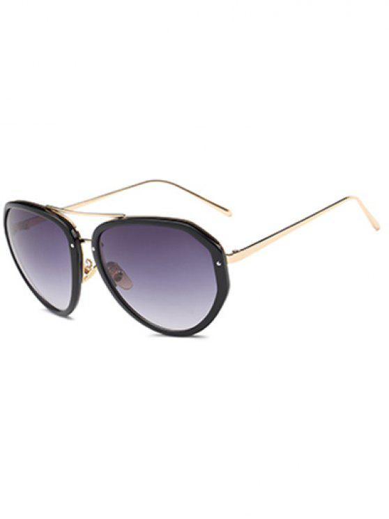 sale Full Frame Oversized Sunglasses - BLACK