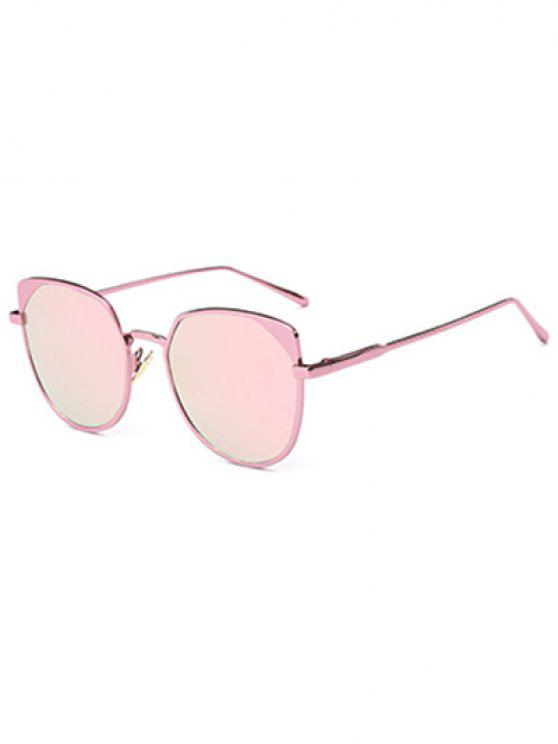 best Hipsters Cat Eye Mirrored Sunglasses - PINK
