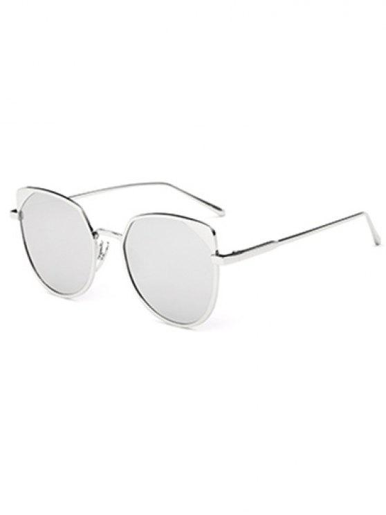 online Hipsters Cat Eye Mirrored Sunglasses - SILVER