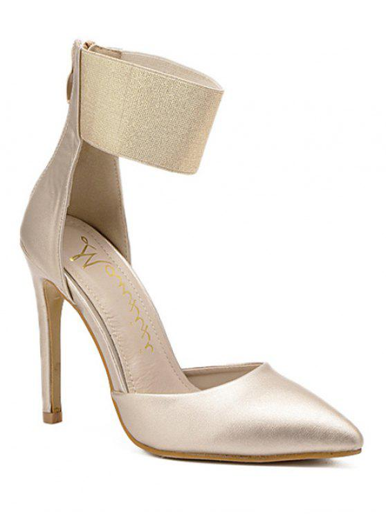 hot Elastic Band Stiletto Heel Pumps - GOLDEN 38