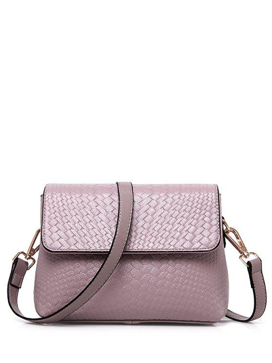 new Woven PU Leather Crossbody Bag - PINK