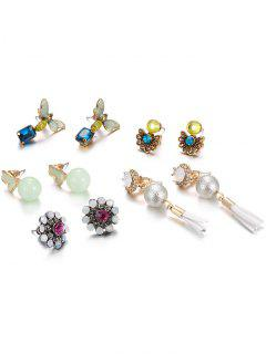 Artificial Crystal Rhinestone Insect Blossom Earrings