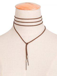 Bar Necklace - Brown