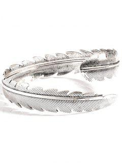 Alloy Feather Arm Cuff Chain - Silver