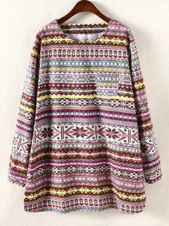 Plus Size Long Sleeve Dress - Yellow Xl