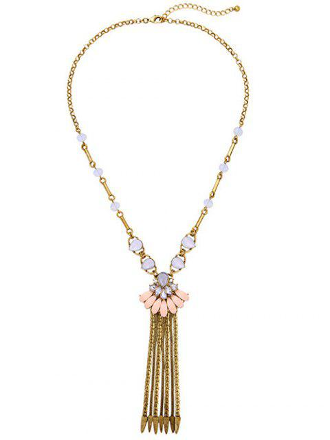 Strass Collier chaîne Fringe - Or  Mobile