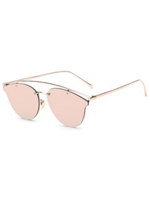 Gafas de sol espejadas travesaño de la mariposa - Rosa  Mobile