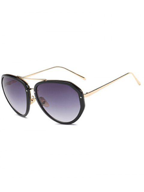 sale Full Frame Oversized Sunglasses - BLACK  Mobile