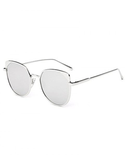 online Hipsters Cat Eye Mirrored Sunglasses - SILVER  Mobile