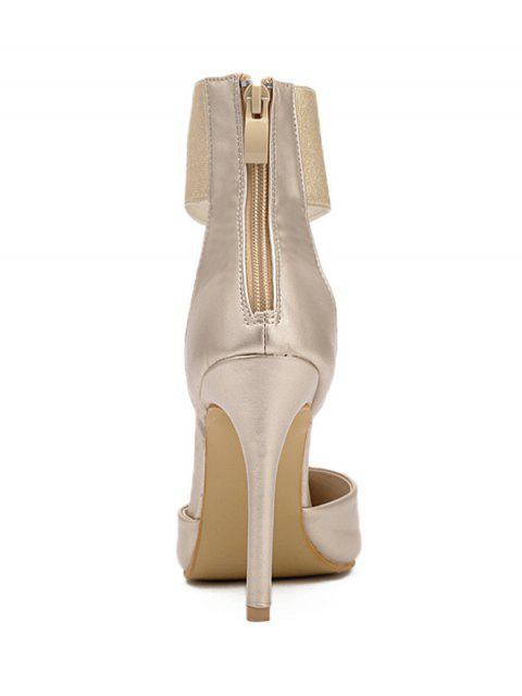 hot Elastic Band Stiletto Heel Pumps -   Mobile