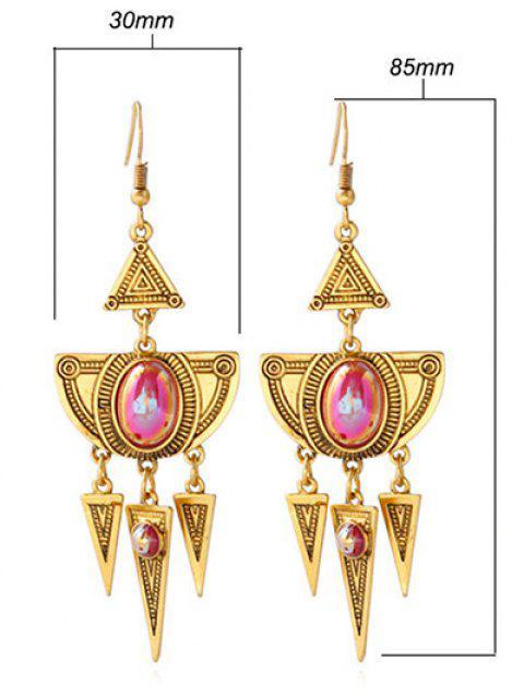 women Faux Crystal Layered Alloy Geometric Earrings -   Mobile