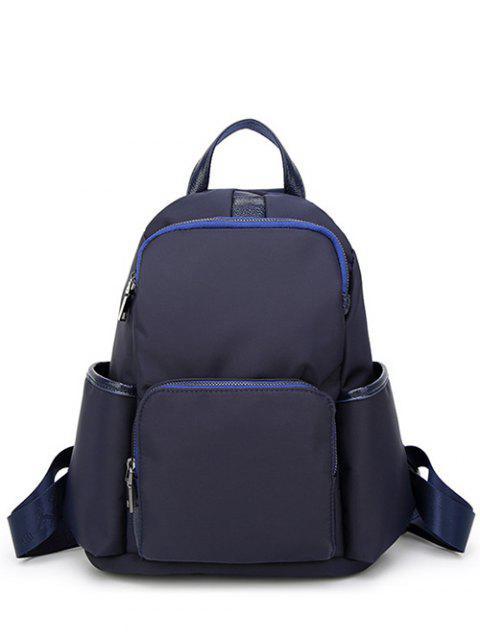 Lässige PU Spliced Nylon-Rucksack - Blau  Mobile