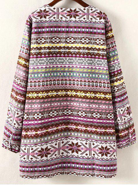 Robe de grande taille à manches longues - Jaune 4XL Mobile