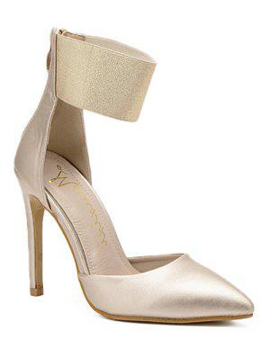 Elastic Band Stiletto Heel Pumps