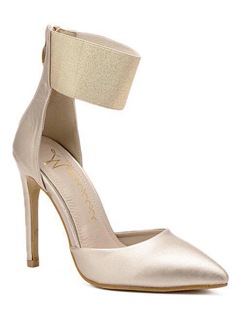 Elastic Band Stiletto Heel Pumps 193595508