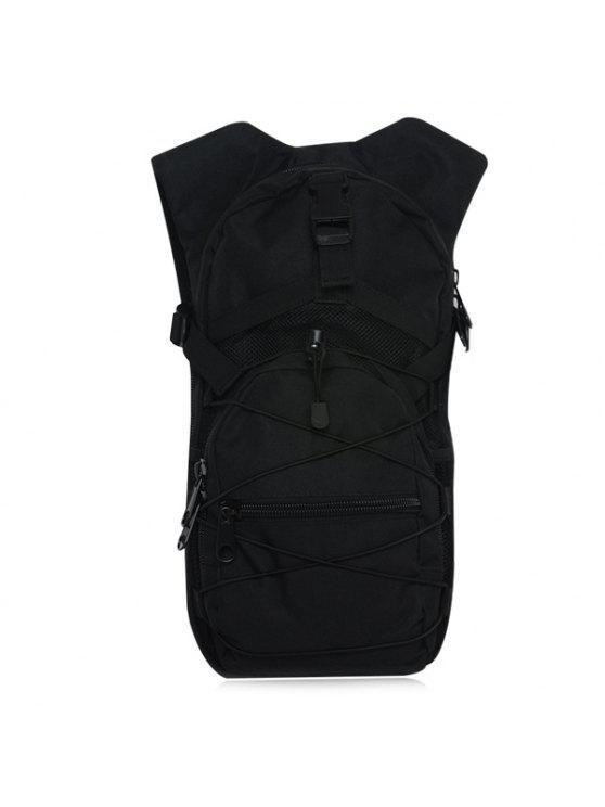 حقيبة الظهر مرونة نايلون كهنوتي - أسود