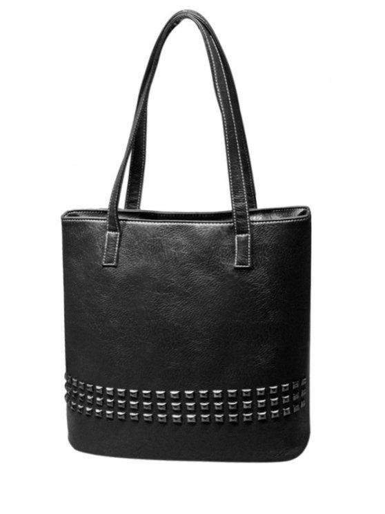حقيبة برشام مركب بو الكتف - أسود