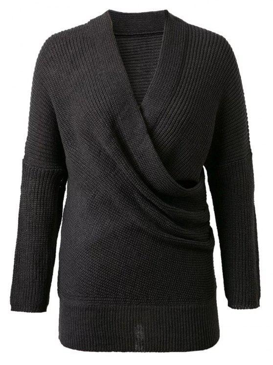 Crossover suéter - Negro Única Talla