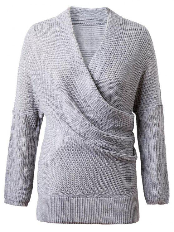 Crossover Sweater - Gris TAILLE MOYENNE