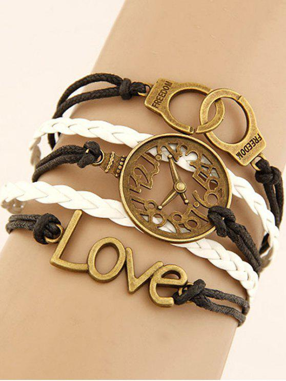 Reloj de pulsera trenzada Esposas - Colormix