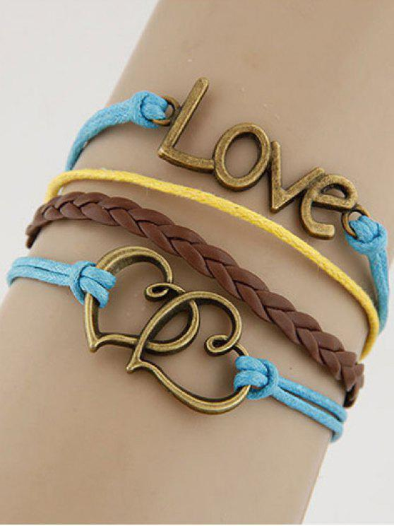 chic Hearts Love Braided Bracelet - COLORMIX