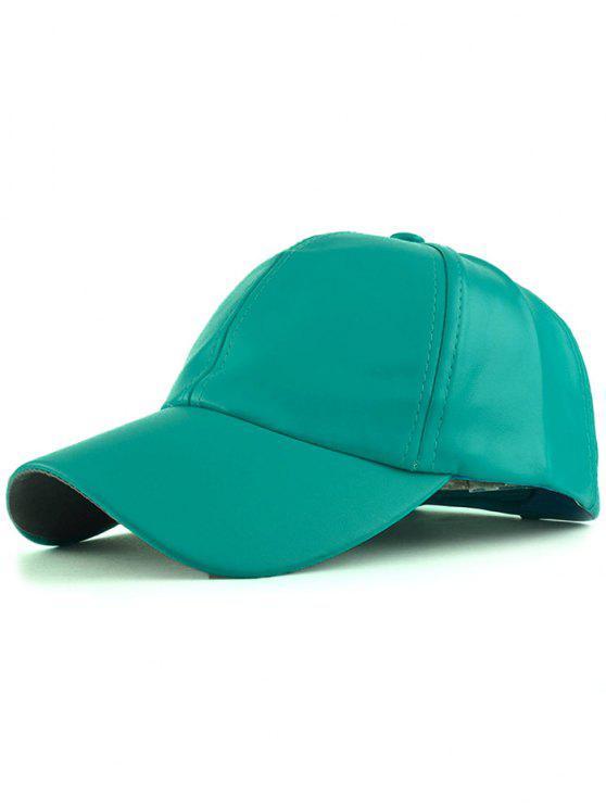 shops Faux Leather Baseball Hat - GREEN