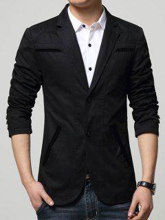 Slim Fit Men Blazer - Black 2xl