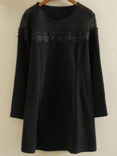 Plus Size Tunic Dress - Black Xl
