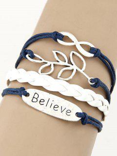 Olive Branch Braid Bracelet - Blue