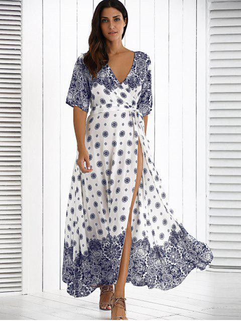 shops Maxi Crossover Dress With Belt - WHITE ONE SIZE Mobile