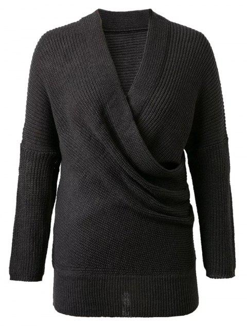 online Crossover Sweater - BLACK ONE SIZE Mobile