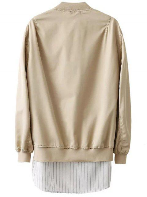 sale Zipped Layered Hem Jacket - COMPLEXION S Mobile