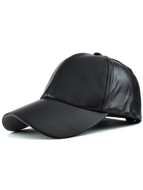 shop Faux Leather Baseball Hat -   Mobile