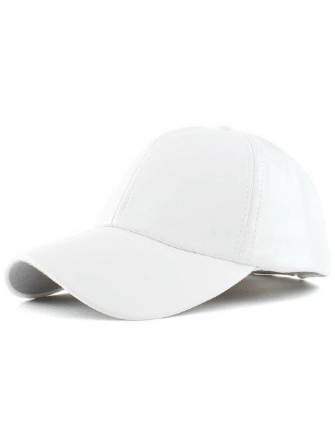 fancy Faux Leather Baseball Hat -   Mobile