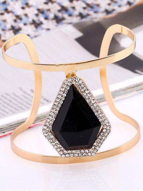 best Rhinestone Alloy Layered Geometric Cuff Bracelet -   Mobile