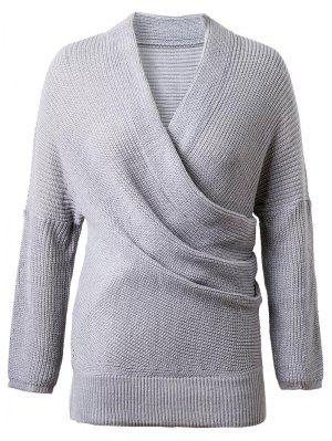 Crossover Suéter - Gris - Gris